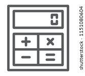 online calculator line icon ...