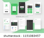 banking app ui kit for... | Shutterstock .eps vector #1151083457