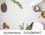 organic skincare products... | Shutterstock . vector #1151085497
