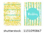 bridal shower card with dots... | Shutterstock .eps vector #1151090867