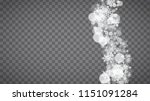 isolated snowflakes on... | Shutterstock .eps vector #1151091284
