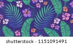 tropical pattern endless | Shutterstock .eps vector #1151091491