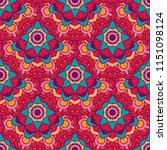seamless pattern of mandalas... | Shutterstock . vector #1151098124