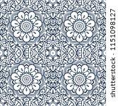 lineart seamless pattern damask ... | Shutterstock . vector #1151098127