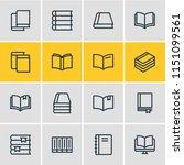 vector illustration of 16 book...   Shutterstock .eps vector #1151099561