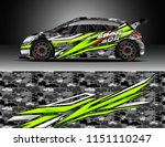 rally car wrap design vector ... | Shutterstock .eps vector #1151110247