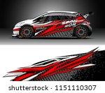 rally car wrap design vector ... | Shutterstock .eps vector #1151110307