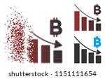 vector bitcoin recession bar... | Shutterstock .eps vector #1151111654