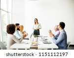 view of multiracial business... | Shutterstock . vector #1151112197
