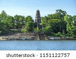 Small photo of The Thien Mu Pagoda is one of the ancient pagoda in Hue city.It is located on the banks of the Perfume River in Vietnam's historic city of Hue. Thien Mu Pagoda can be reached either by car or by boat.
