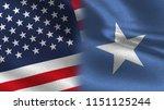 usa and somalia realistic half... | Shutterstock . vector #1151125244