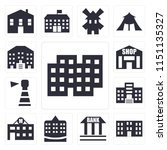 set of 13 simple editable icons ... | Shutterstock .eps vector #1151135327