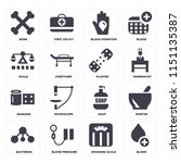 set of 16 icons such as blood ... | Shutterstock .eps vector #1151135387