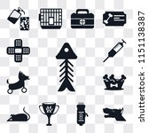 set of 13 simple editable icons ... | Shutterstock .eps vector #1151138387