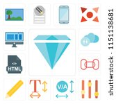 set of 13 simple editable icons ... | Shutterstock .eps vector #1151138681
