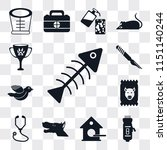 set of 13 simple editable icons ... | Shutterstock .eps vector #1151140244
