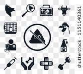 set of 13 simple editable icons ... | Shutterstock .eps vector #1151140361