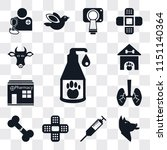 set of 13 simple editable icons ... | Shutterstock .eps vector #1151140364
