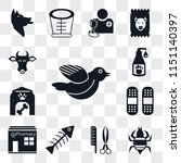 set of 13 simple editable icons ... | Shutterstock .eps vector #1151140397
