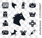 set of 13 simple editable icons ... | Shutterstock .eps vector #1151140607
