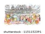 ellora caves  tourist... | Shutterstock .eps vector #1151152391
