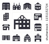 set of 13 simple editable icons ... | Shutterstock .eps vector #1151152724