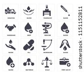 set of 16 icons such as first...