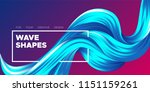 abstract flow background. wave... | Shutterstock .eps vector #1151159261