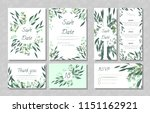eucalyptus design. wedding... | Shutterstock .eps vector #1151162921