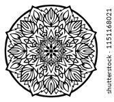 flower mandala. vintage... | Shutterstock .eps vector #1151168021
