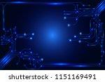 circuit board technology... | Shutterstock .eps vector #1151169491