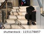 orthodox religious jewish man...   Shutterstock . vector #1151178857
