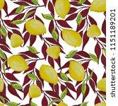 watercolor seamless pattern... | Shutterstock . vector #1151189201