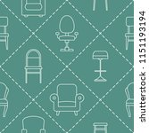 seamless pattern with chair... | Shutterstock .eps vector #1151193194