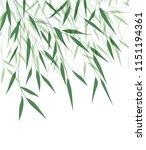 vector illustration of bamboo... | Shutterstock .eps vector #1151194361