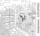 simple line art of beautiful... | Shutterstock .eps vector #1151199161