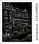town on the blackborad  chalk... | Shutterstock . vector #1151199824