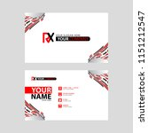 logo rx design with a black and ... | Shutterstock .eps vector #1151212547
