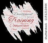 vector conceptual training ... | Shutterstock .eps vector #1151213444