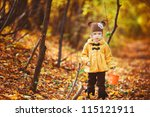 adorable little girl with... | Shutterstock . vector #115121911