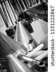 hanging kitchen utensils | Shutterstock . vector #1151222867