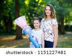 happy little kid girl and... | Shutterstock . vector #1151227481