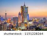 Macau  City Skyline At Night.