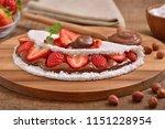 tapioca filled with hazelnut... | Shutterstock . vector #1151228954