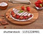 tapioca filled with hazelnut... | Shutterstock . vector #1151228981