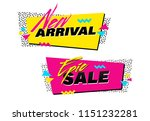 vector set of memphis style... | Shutterstock .eps vector #1151232281
