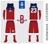 basketball jersey or sport... | Shutterstock .eps vector #1151243054