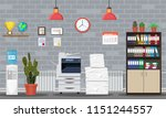 pile of paper documents and... | Shutterstock .eps vector #1151244557