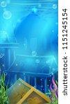 atlantis ruins   vector... | Shutterstock .eps vector #1151245154