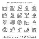 conceptual figures  bold line... | Shutterstock .eps vector #1151245694